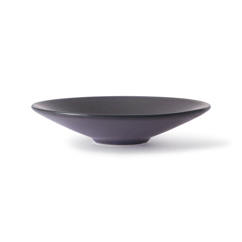 HKliving-collectie Home chef ceramics: flat bowl purple