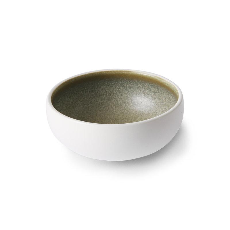 HKliving-collectie Keramiek schaaltje wit / groen
