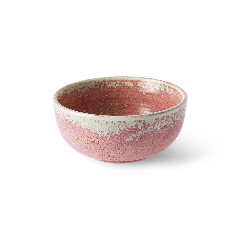 HKliving-collectie Keramieke schaal rustiek roze