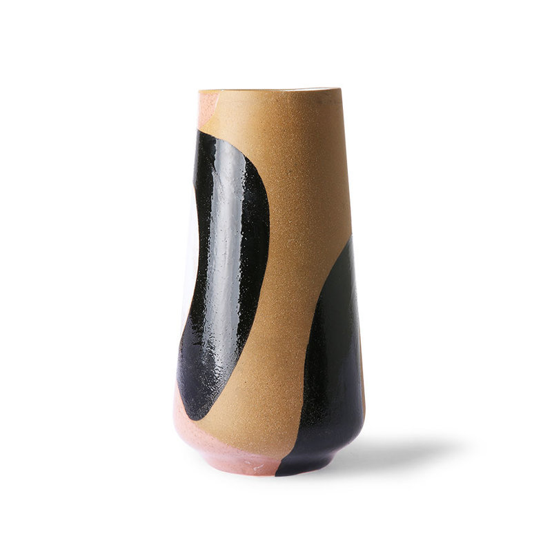 HKliving-collectie Hand painted ceramic flower vase