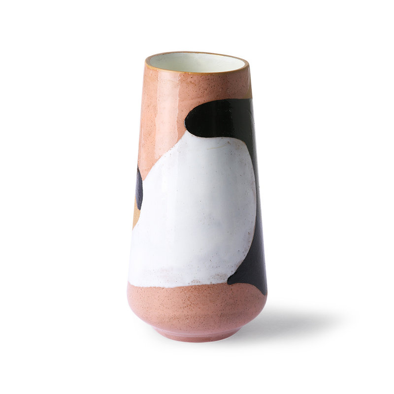 HKliving-collectie Handbeschilderde keramische bloemenvaas