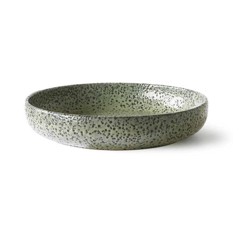 HKliving-collectie Gradient ceramics: deep plate green (set of 2)