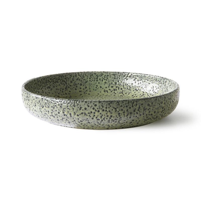 HKliving-collectie Keramieke diepe borden groen (set van 2)