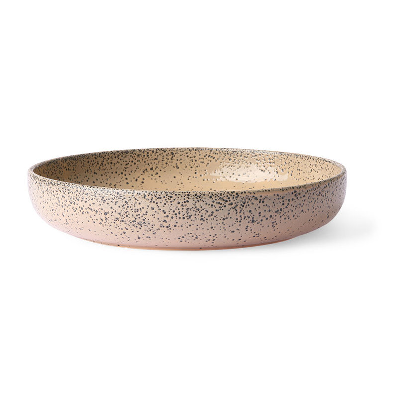 HKliving-collectie Gradient ceramics: deep plate taupe (set of 2)
