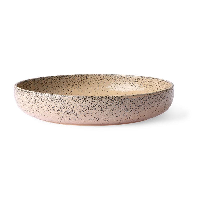 HKliving-collectie Keramieke diepe borden taupe (set van 2)