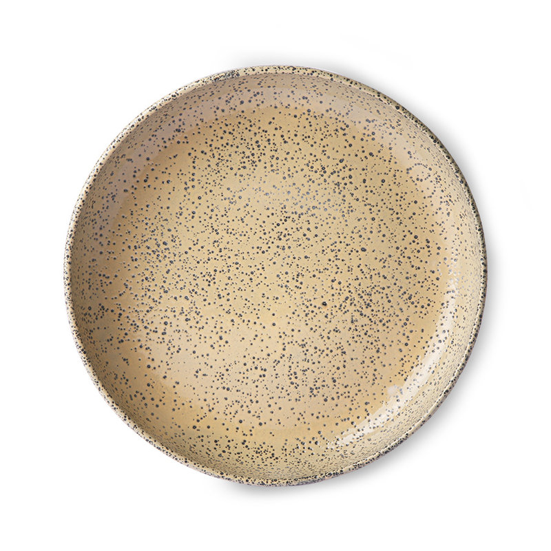 HKliving-collectie Gradient ceramics: deep plate peach (set of 2)