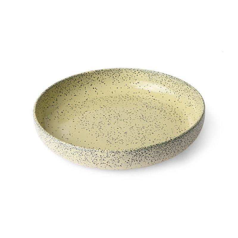 HKliving-collectie Keramieke diepe borden geel (set van 2)