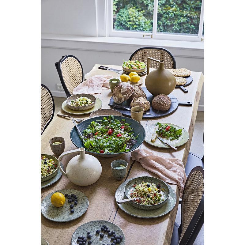 HKliving-collectie Gradient ceramics: deep plate yellow (set of 2)