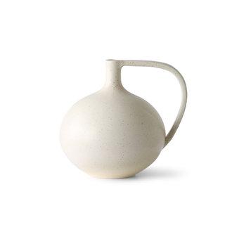 HKliving Ceramic jar M white speckled