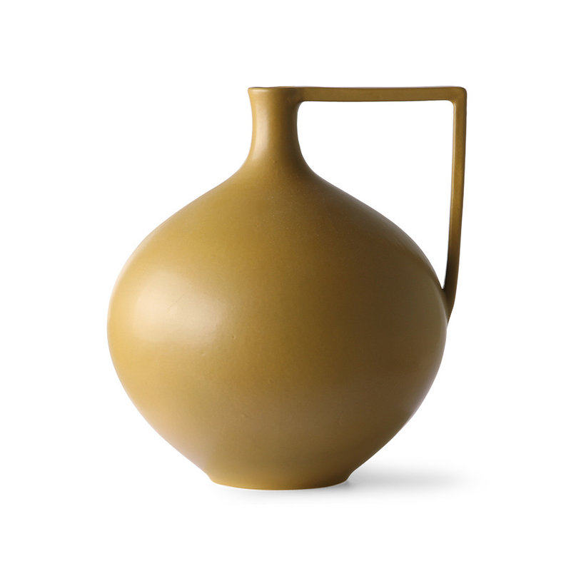 HKliving-collectie Ceramic jar L mustard
