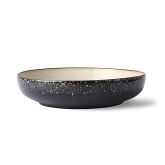 HKliving Ceramic 70's salad bowl: galaxy