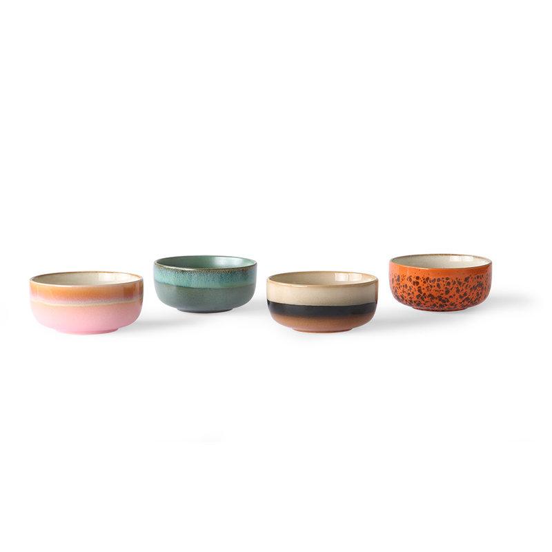 HKliving-collectie Ceramic 70's dessert bowls (set of 4)