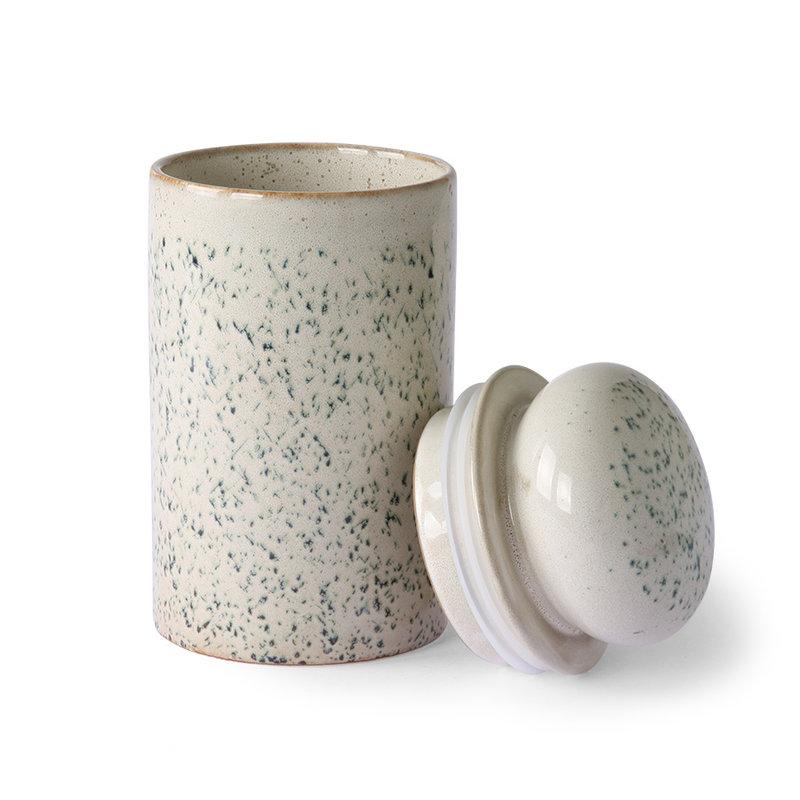 HKliving-collectie 70's voorraadpot van keramiek