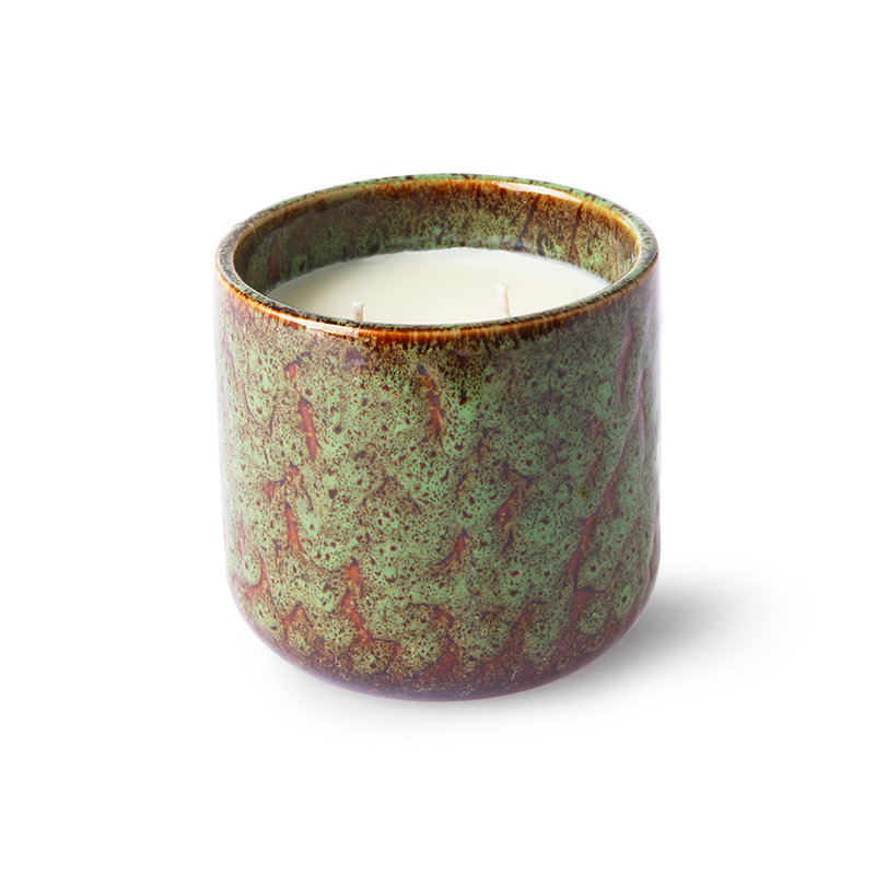 HKliving-collectie Ceramic scented candle: floral boudoir