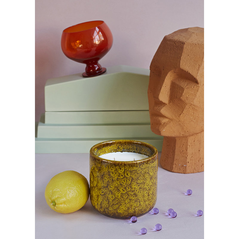 HKliving-collectie Ceramic scented candle: cocktails in manhattan