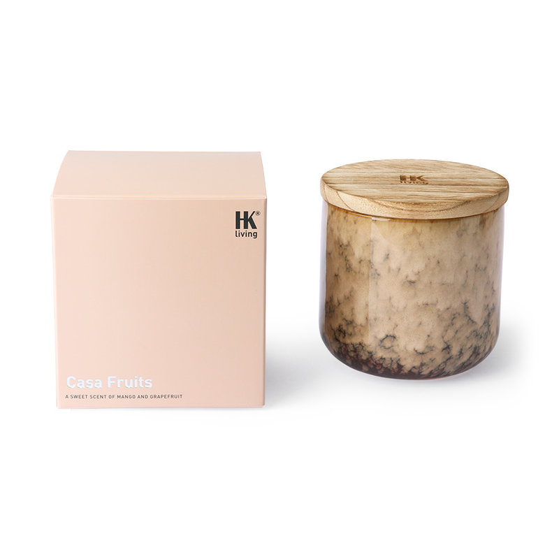 HKliving-collectie Ceramic scented candle: casa fruits