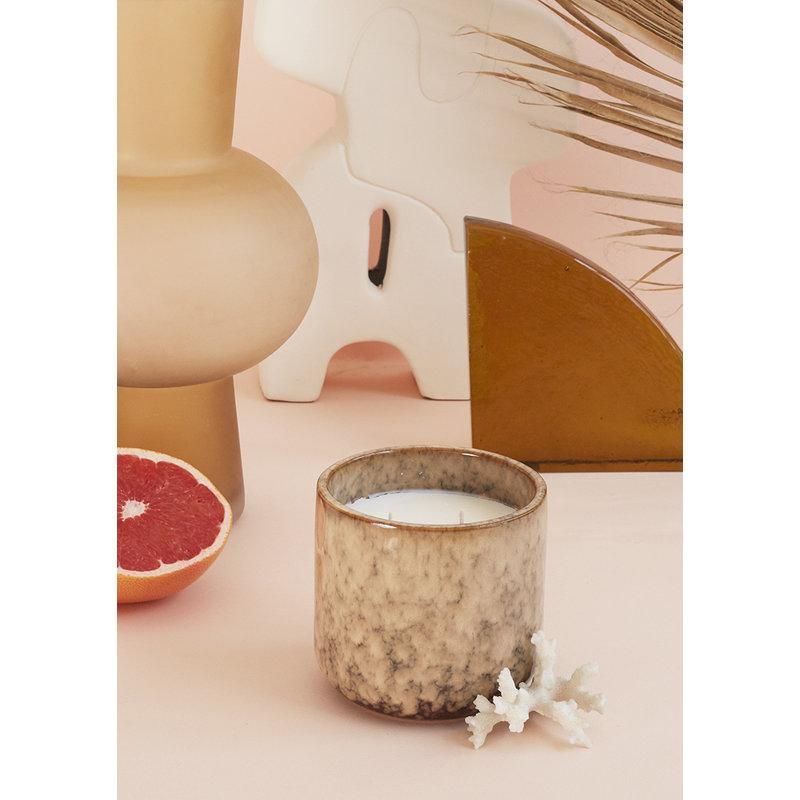 HKliving-collectie Keramiek geurkaars: casa fruit