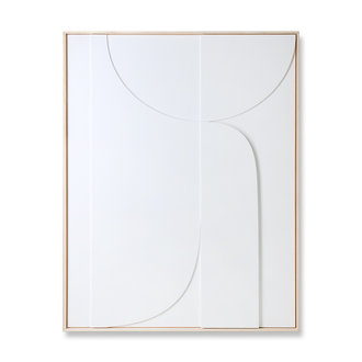 HKliving Framed relief art panel white B (97x120)