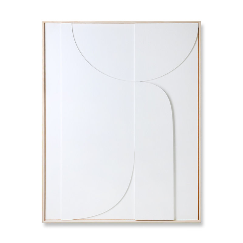 HKliving-collectie Framed relief art panel white B (97x120)