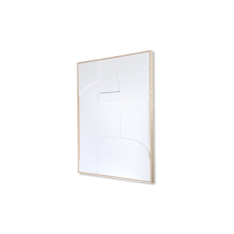 HKliving-collectie Framed relief art panel white A (60x80)