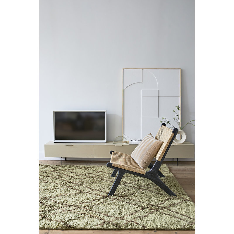HKliving-collectie Ingelijste reliëfkunst paneel wit A (60x80)