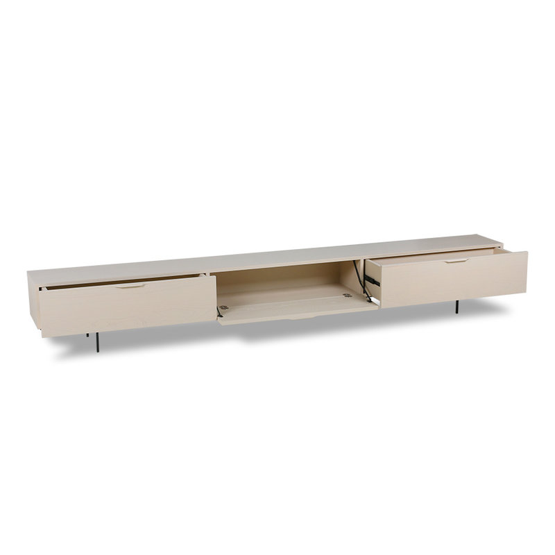 HKliving-collectie Tv meubel hout 250cm zand