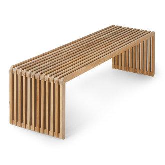 HKliving Slatted bench teak