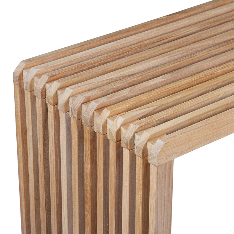 HKliving-collectie Slatted bench teak