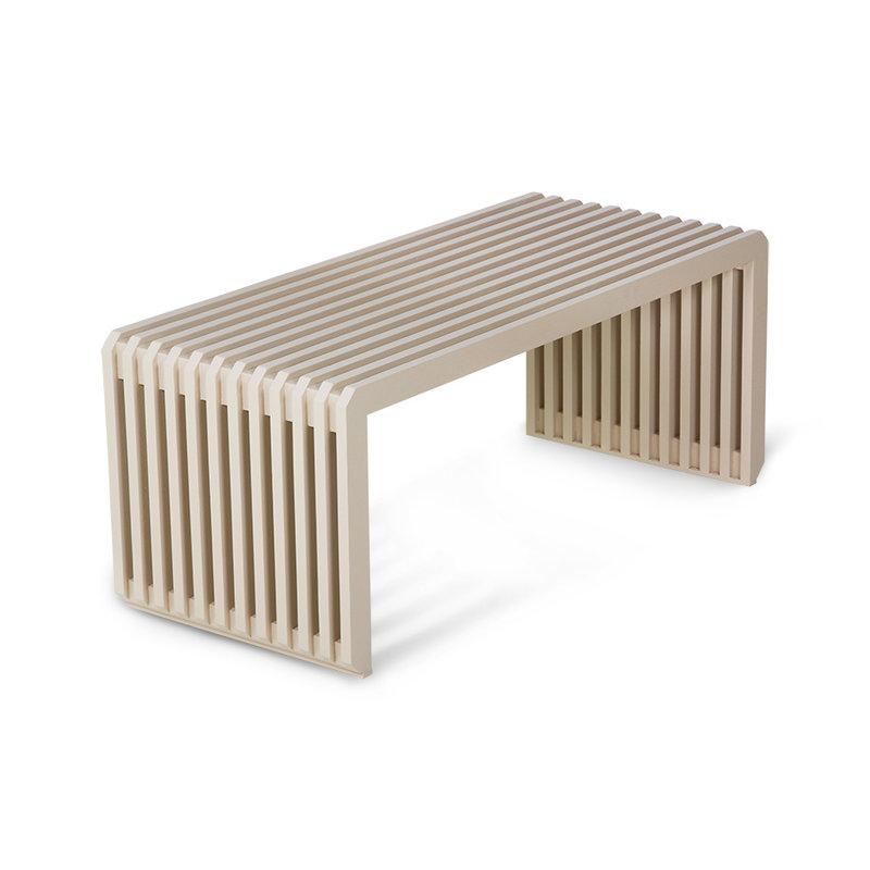 HKliving-collectie Bank teak met houten latten zand