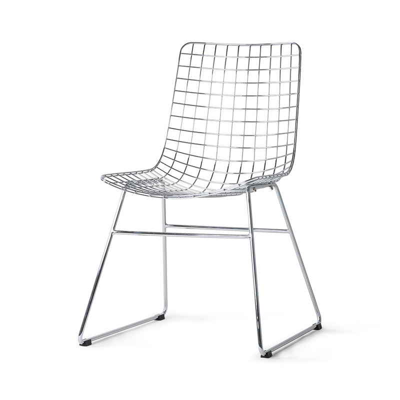 HKliving-collectie Metal wire chair chrome