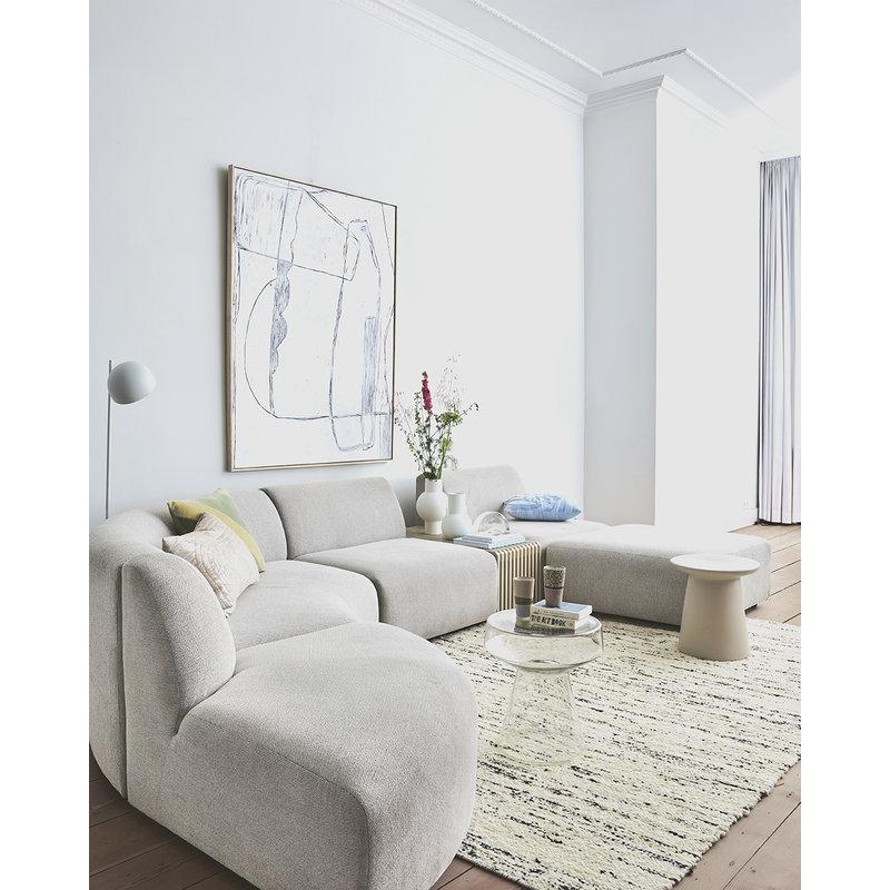 HKliving-collectie Jax couch: element round, sneak, light grey