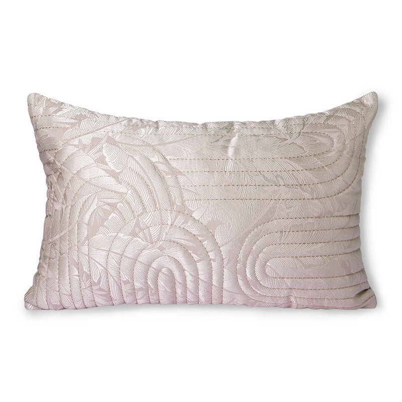 HKliving-collectie Quilted cushion nude/rosé (40x60)
