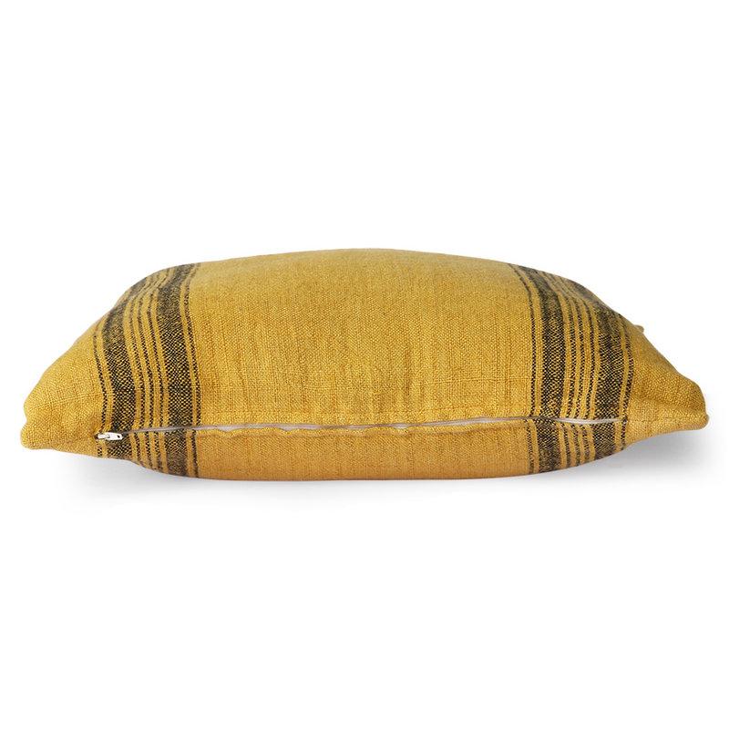HKliving-collectie Linnen kussen mosterd (45x45)