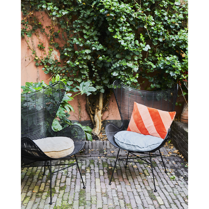 HKliving-collectie Linen seat cushion round ice blue (ø60)