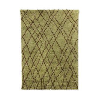HKliving Wollen vloerkleed bruin zigzag (180x280)