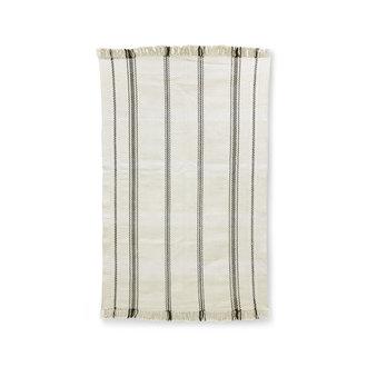 HKliving Handgeweven vloerkleed zwart / witte strepen (150x240)