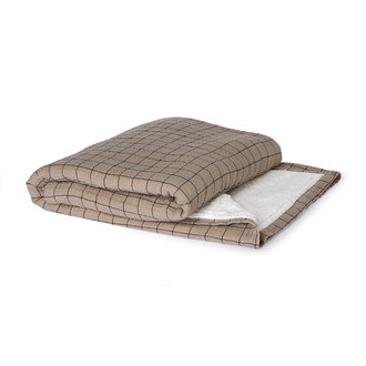HKliving Checkered sherpa throw (130x170)
