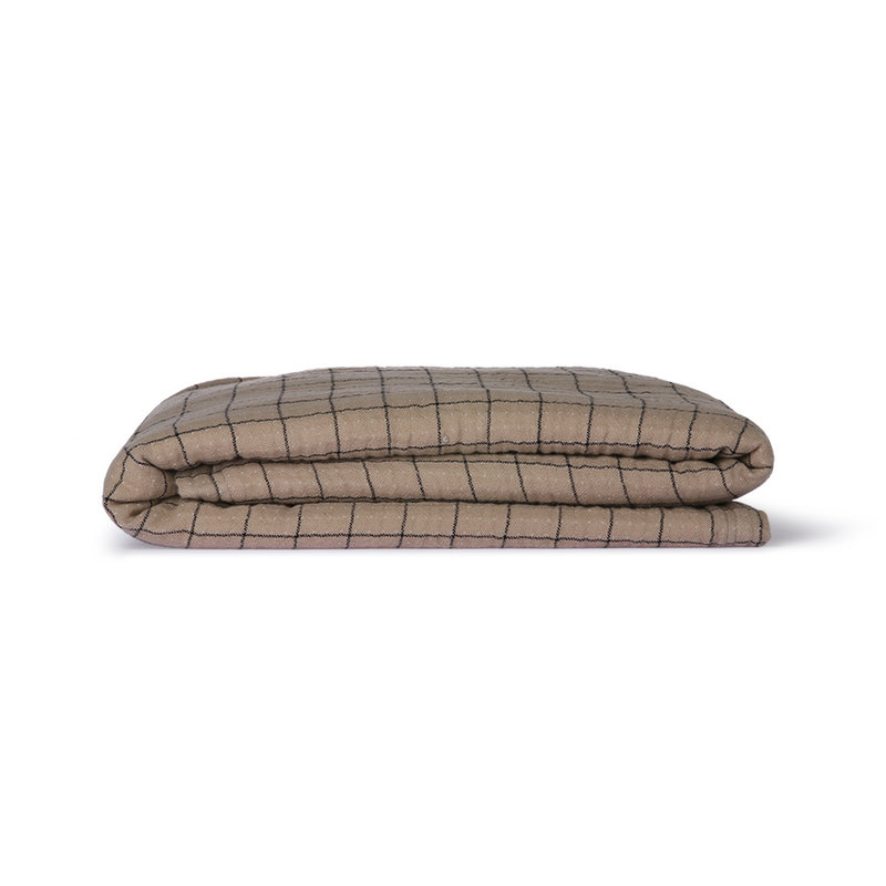 HKliving-collectie Checkered sherpa throw (130x170)