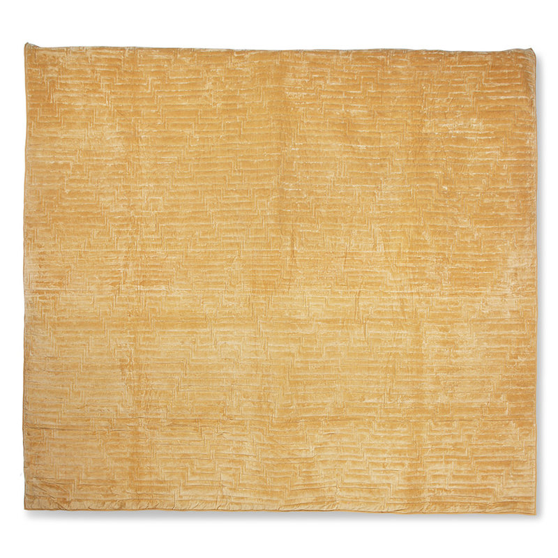 HKliving-collectie Katoenen fluwelen sprei zachtgeel (240x260)