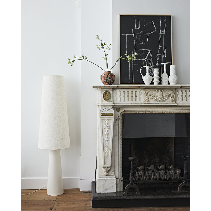 HKliving-collectie Retro cone floorlamp XL cream