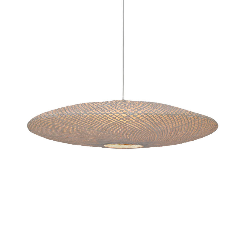 HKliving-collectie UFO hanglamp van bamboe / papier