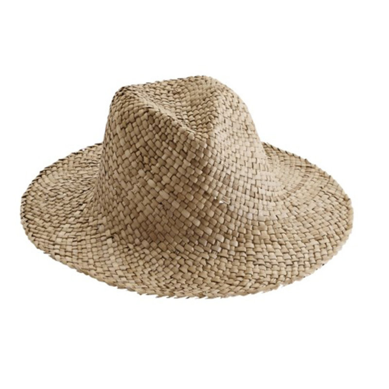 Madam Stoltz-collectie Straw hat w/ embroidery