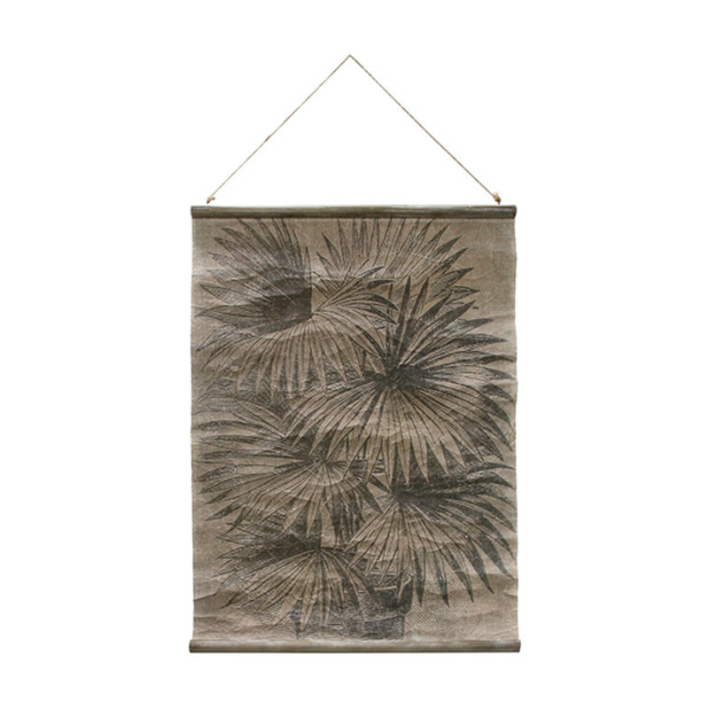 HKliving-collectie Linen poster palm leaves