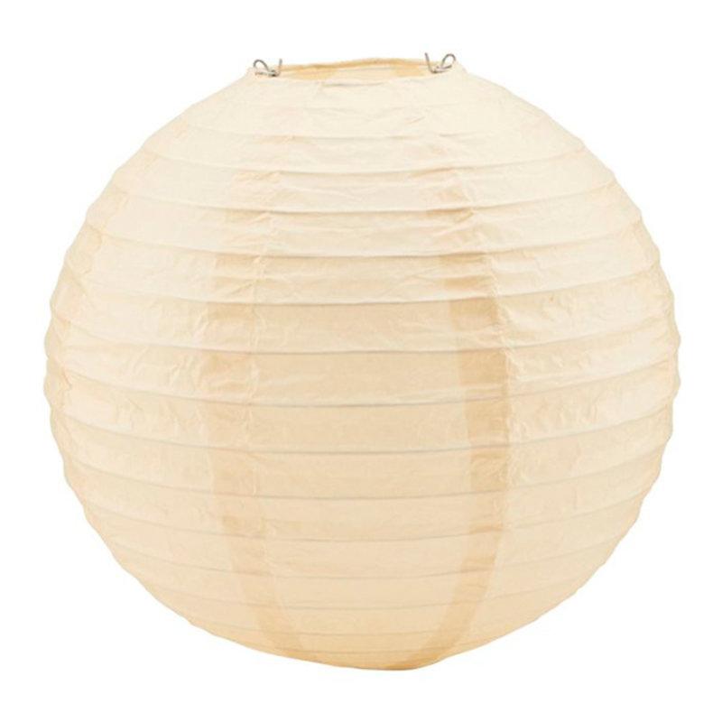 House Doctor-collectie Lampenkapjes Soni zand Ø20 cm - 10 stuks voor lichtsnoer
