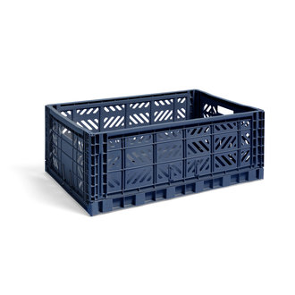 HAY Krat Colour Crate Navyblauw L