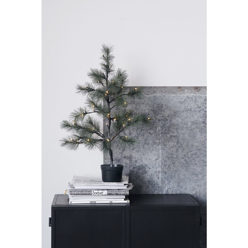 House Doctor-collectie Christmas tree, w. 40 wire LED lights, Nature