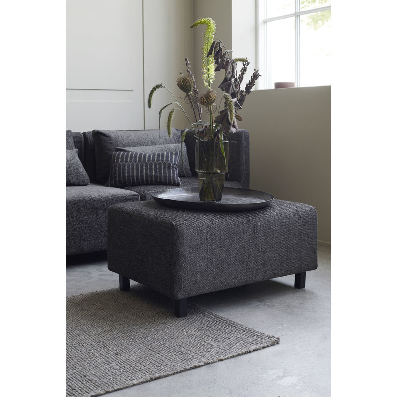 House Doctor-collectie Pouf, Camphor, Dark brown, Seat height: 44 cm