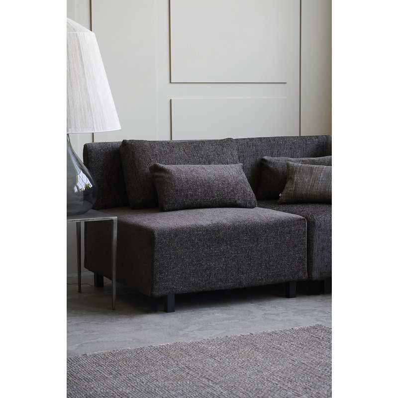 House Doctor-collectie Sofa, Middle section, Camphor, Dark brown, Seat height: 44 cm, Incl. 2 Pillows