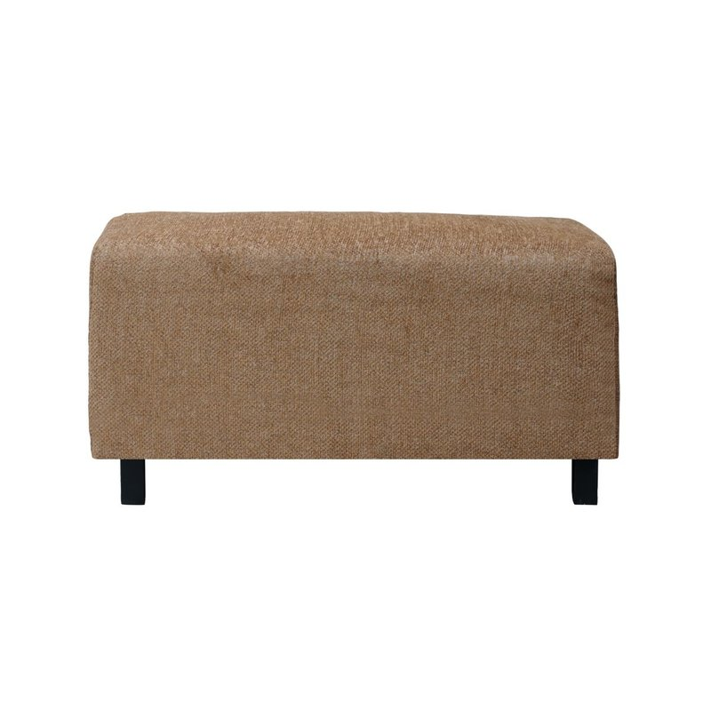 House Doctor-collectie Pouf, Camphor, Camel, Seat height: 44 cm
