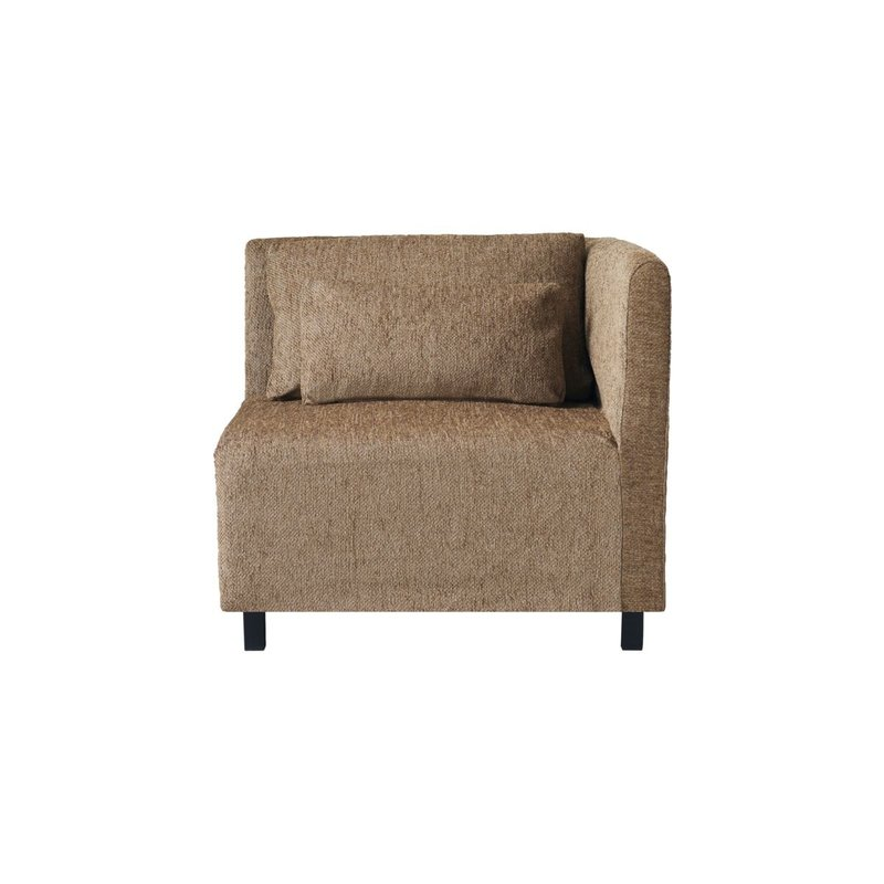 House Doctor-collectie Sofa, Corner section, Camphor, Camel, Seat height: 44 cm, Incl. 2 Pillows